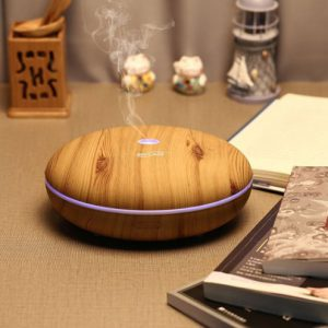 350ml Easy To Clean Cool Mist Humidifier Large Capacity Wood Grain Essential Oil Diffuser