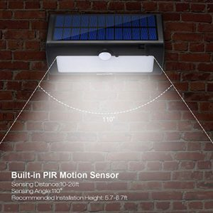 Outside Super Bright Housmile LED Light , Solar Powered Security Light With Motion Sensor