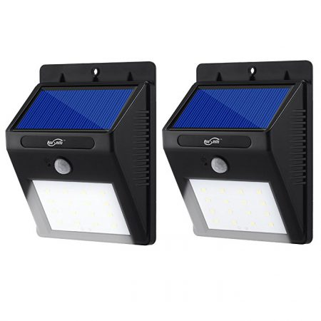 Rainproof Exterior Solar Powered Motion Activated Security Lights