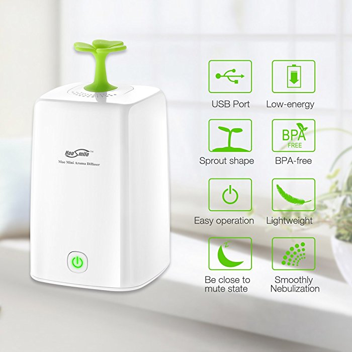 Moe Mini Aroma Pure Essential Oil Diffuser Micro USB Air Humidifier Lightweight Long Lasting Diffusion Product Specification