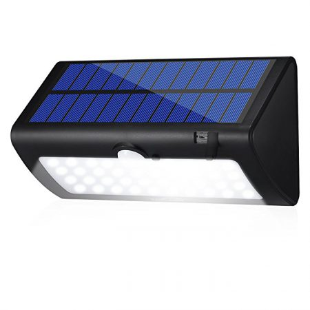 Bright Solar Powered Outdoor LED Security Light with Motion Sensor