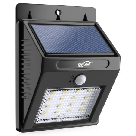 Waterproof Intelligent Solar Powered LED Security Motion Detector Outdoor Light