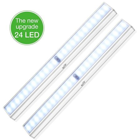 Housmile 24-LED Battery Operated Wardrobe Strip Light