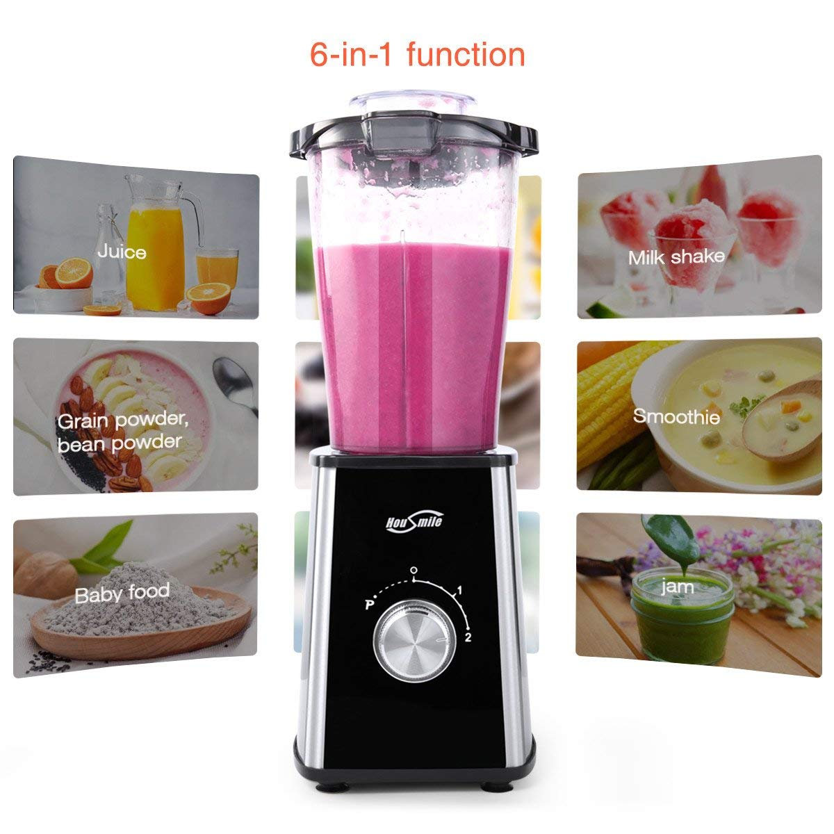 Housmile Personal Blender With Travel Lids And Two Sport Shake Take 3 2 Bottle 02housmile Design